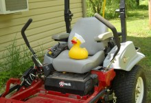 Sailor Duck on A Riding Mower